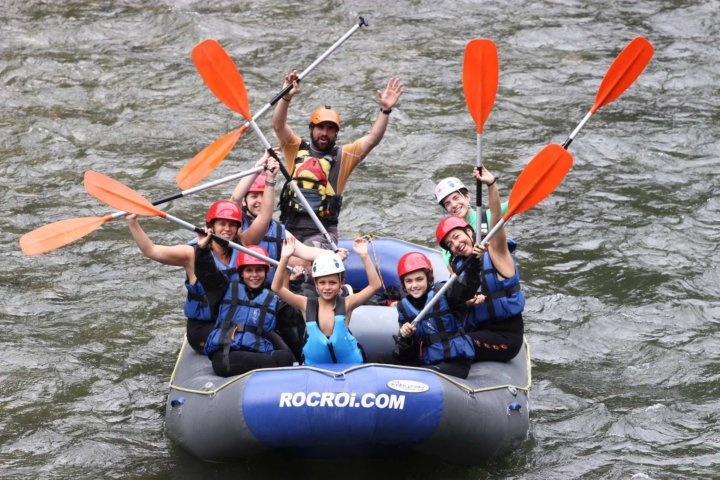 Family group Rafting
