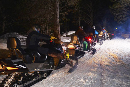 Snow mobile night tour Andorra