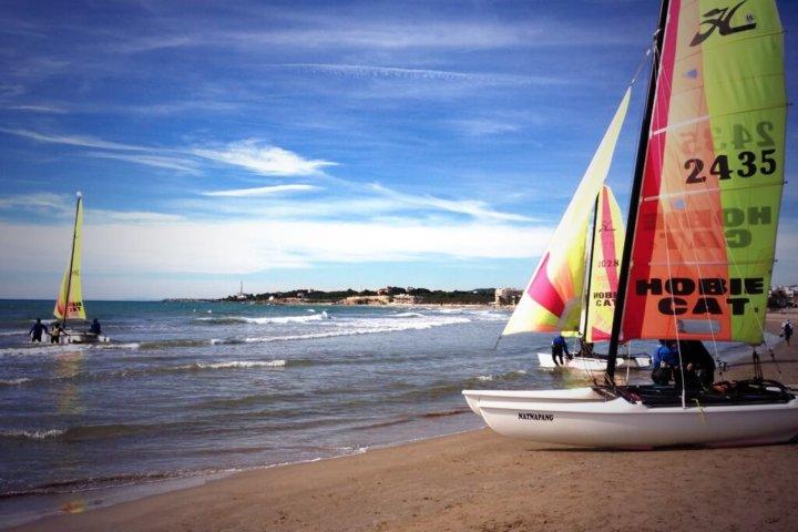 Catamaran near Barcelona
