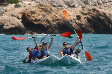 Sea kayaking Barcelona