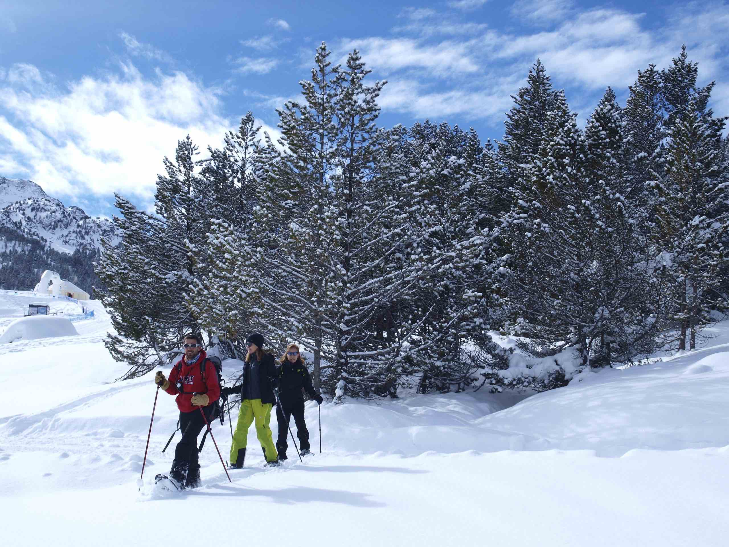 Snow shoes in Andorra