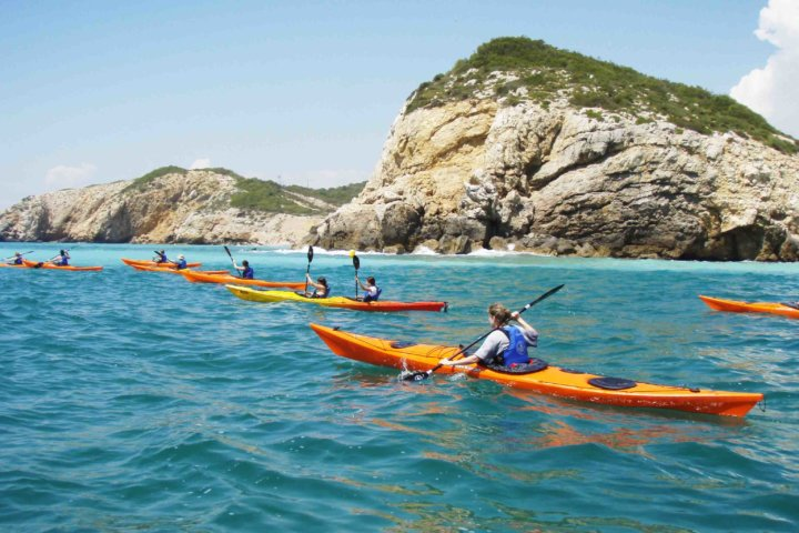 sea kayaking Barcelona