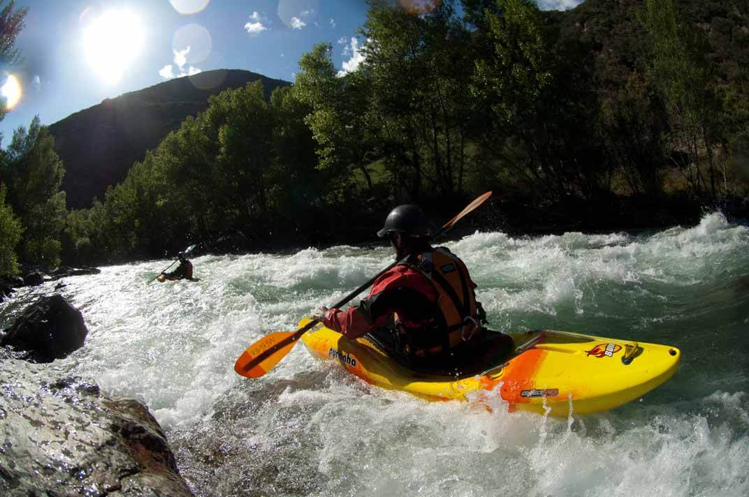 white water kayak in Pyrenees
