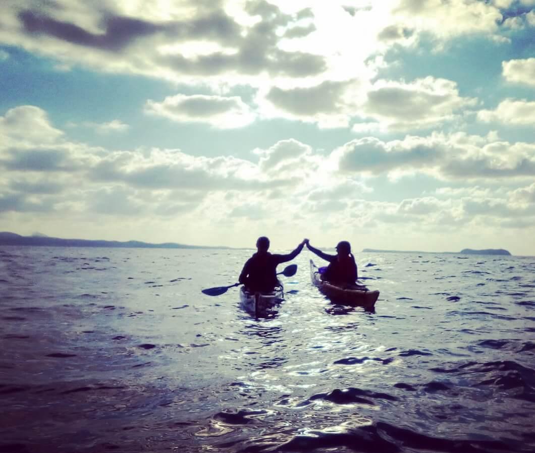 Sea kayaking in Ibiza