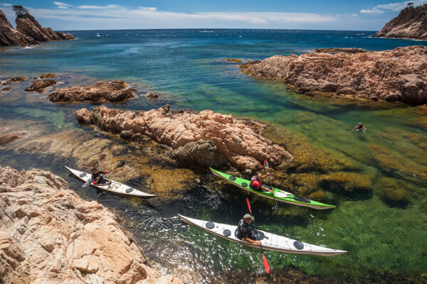 Sea kayak in Costa Brava