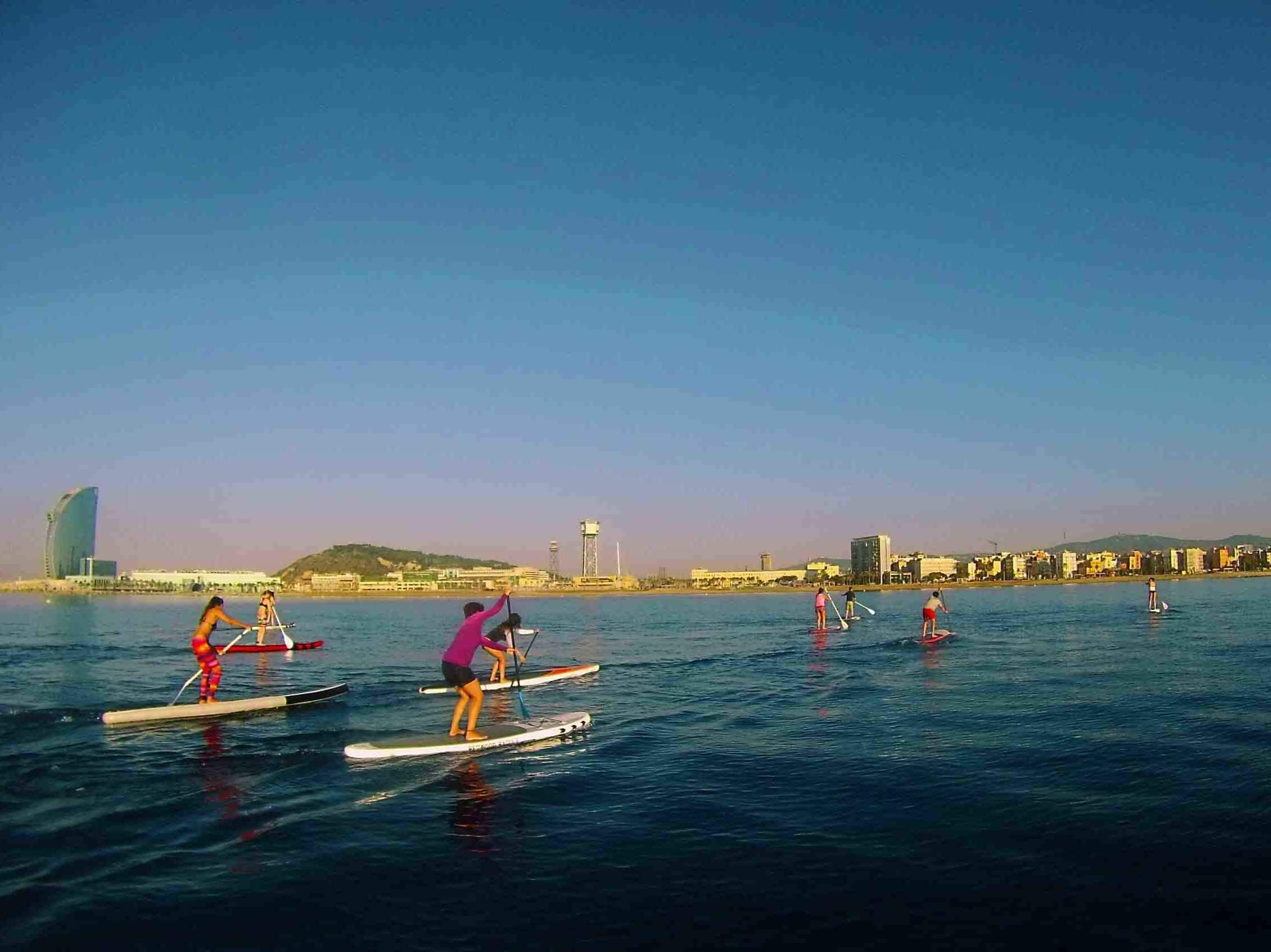 Paddle SUP in Barcelona