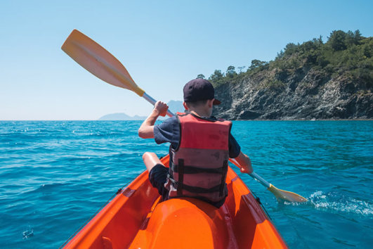 Sea kayak in Spain