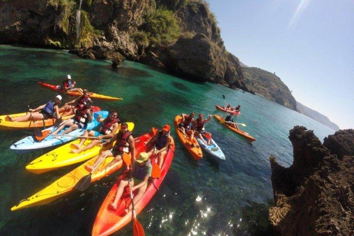 Sea kayaking in Nerja