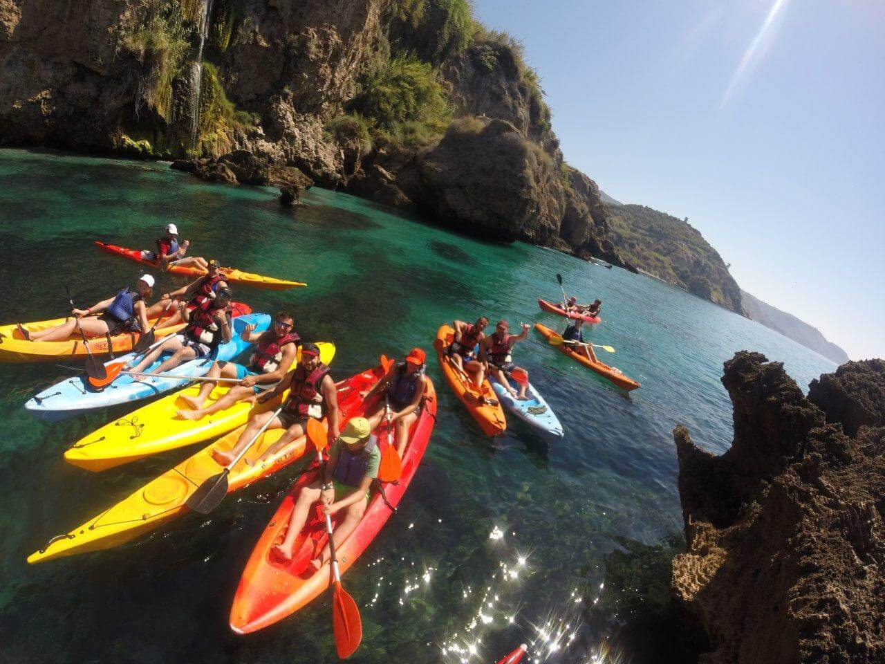 Sea kayaking in Nerja