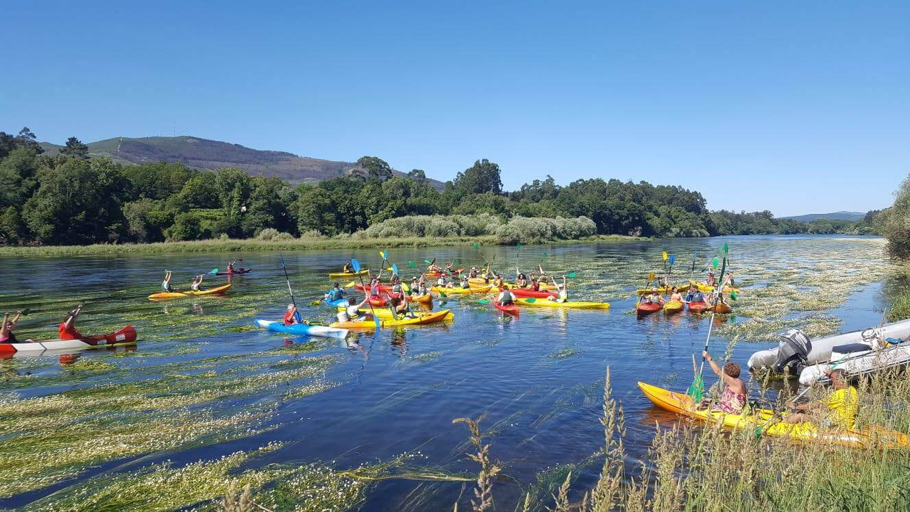 Canoeing trip in Galicia