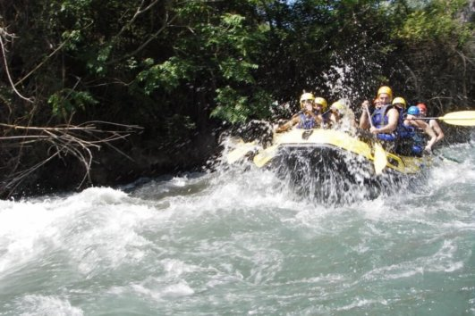 White water rafting in Spain
