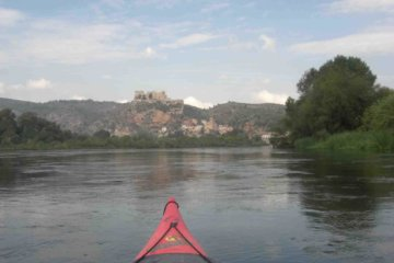 Kayaking in Ebro river