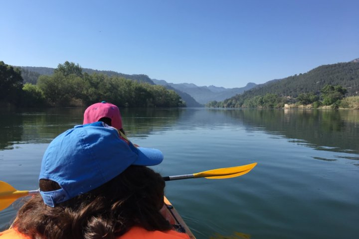 Touring kayak in Ebro river