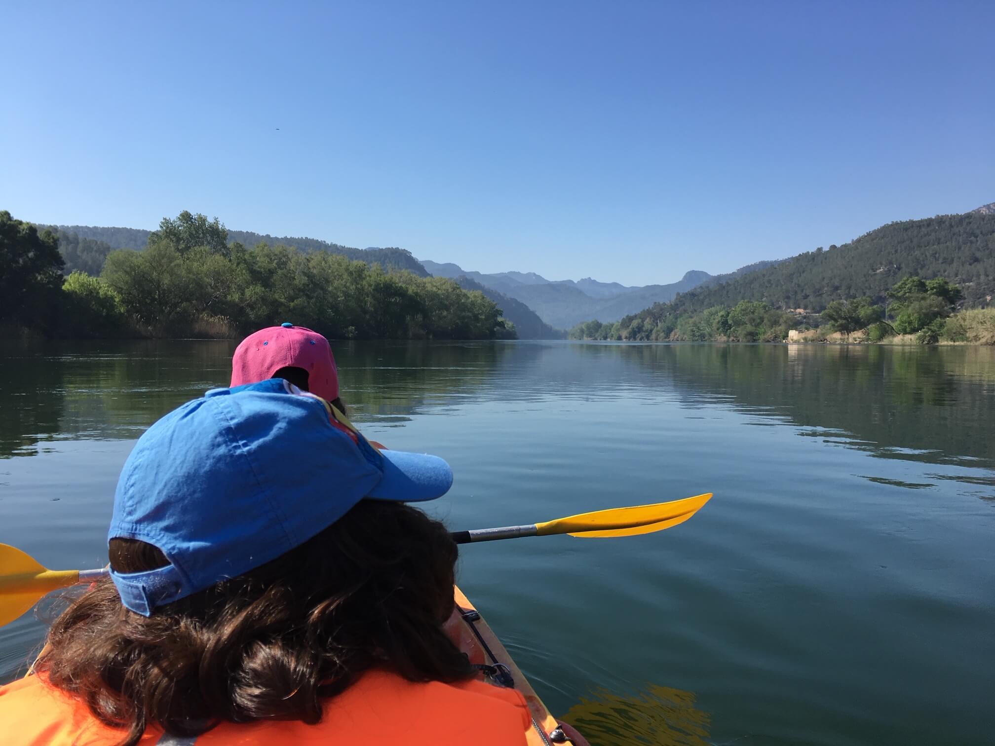 Touring kayak in Ebro river