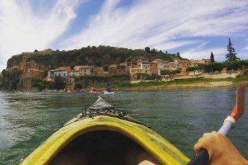 Touring kayak in Catalan Ebro river
