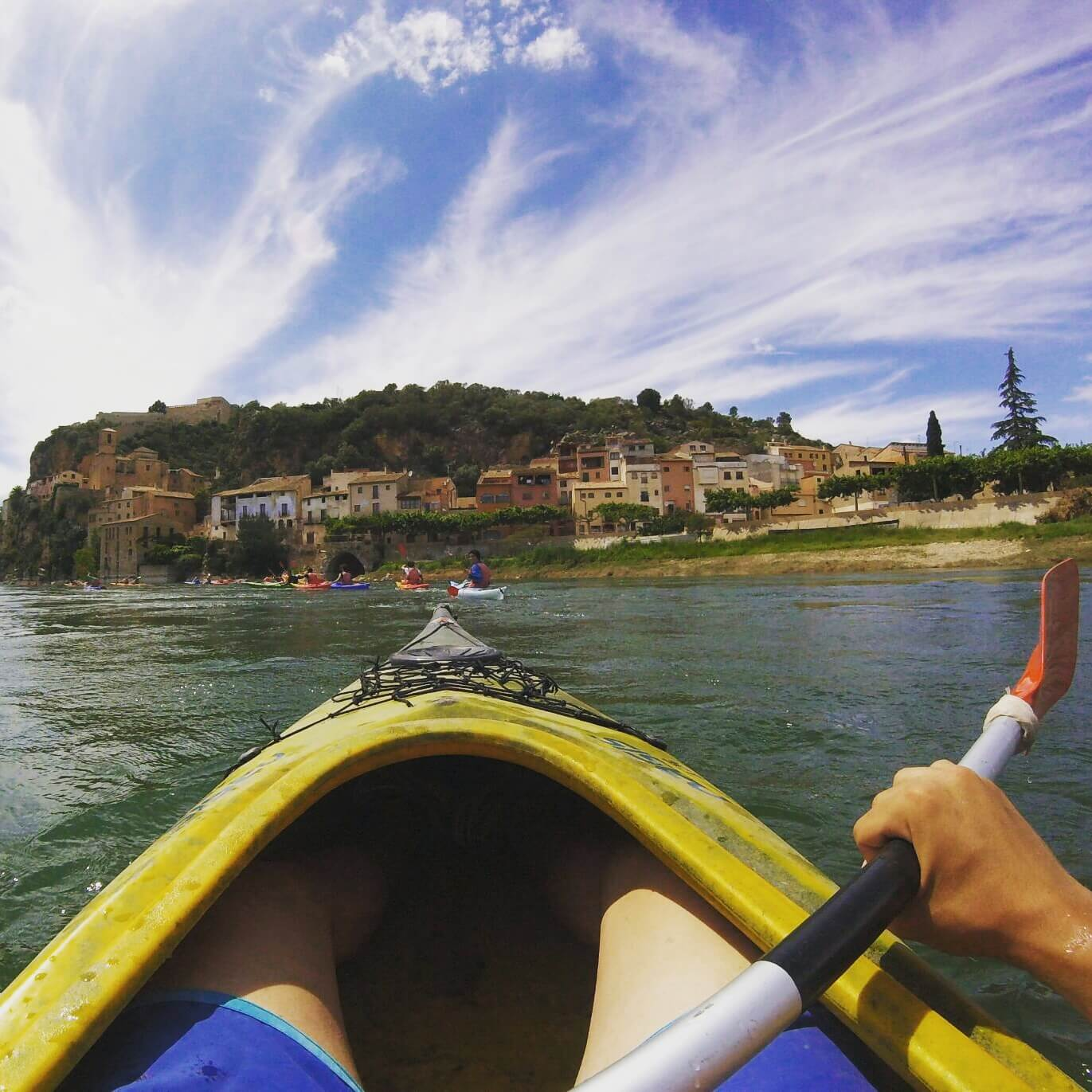 Touring kayak in Catalan Ebro river