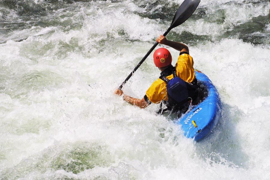 White water kayaking Pyrenees