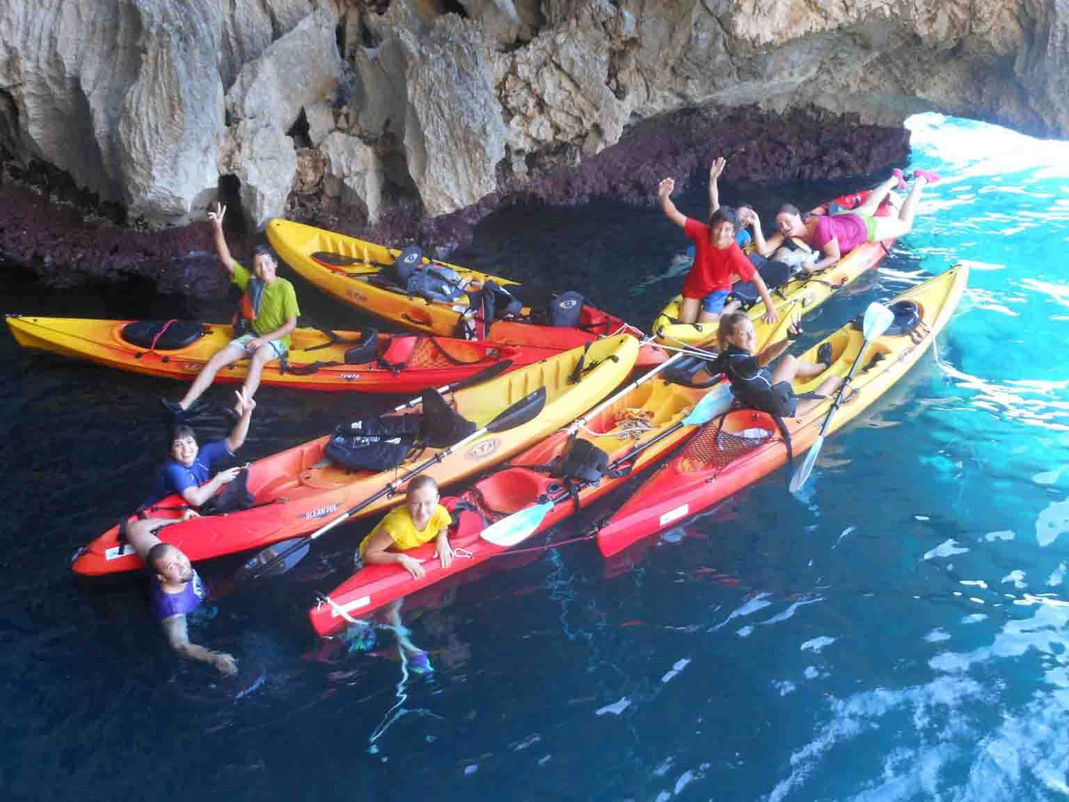 Sea kayak and Caving in Valencia