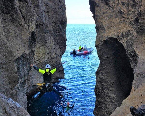 Canyon activity in Mallorca